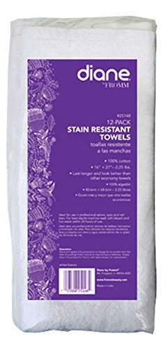 Amazon.com : Fromm Salon Element Towel, White, 12 Count : Hair Drying Towels : Beauty