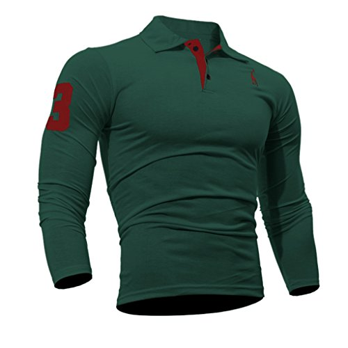 Maillot Longues Fitness Vert Habillée Polo Manches Homme Shirt Wslcn Sportif U8f1q77w4