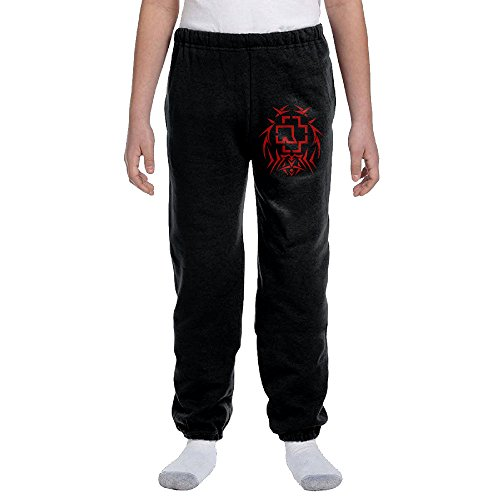 Price comparison product image Rammstein Band 1 Youth Basics Fleece Pocketed Sweat Pants Black