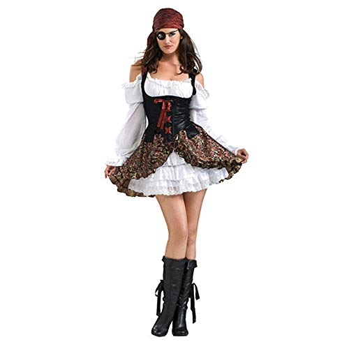 LVLUOYE Halloween Game Plays Uniforms, Europe and America Play Female Pirate Costumes, Pirate Uniforms]()
