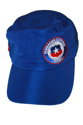 Chile Blue FIFA Soccer World Cup Military Hat Cap .. New by SUPERDAVES SUPERSTORE