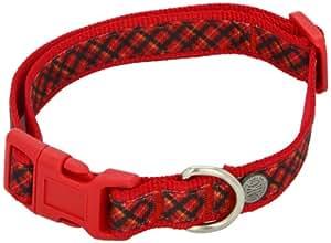 American Kennel Club Adjustable Dog Collar, Medium, Red