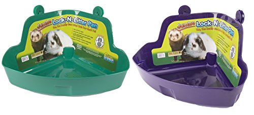(2 Pack) Ware Manufacturing Plastic Lock-N-Litter Pan for Small Pets - Lock N-litter Pan