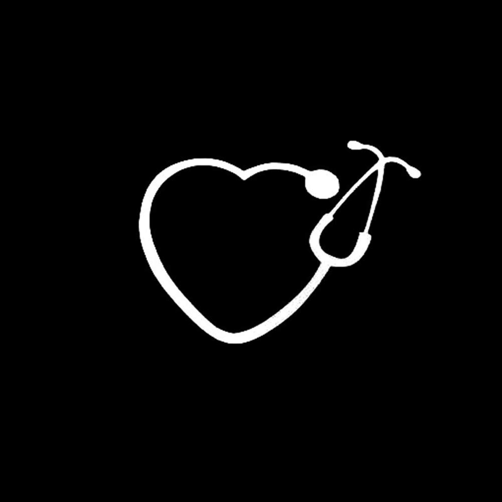 856store Big Promotion Fashion Heart Stethoscope Truck Car Stickers Rearview Window Decals Decoration