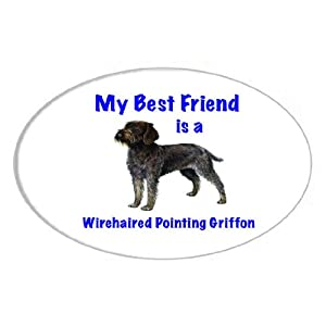 My Best Friend is Wirehaired Pointing Griffon Oval Magnet 14