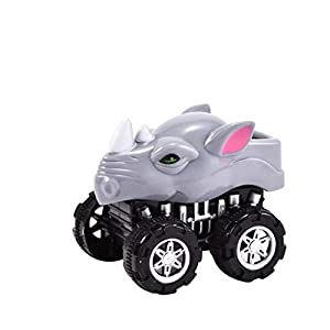 ADESHOP Toys for Kids, Mini Vehicle Animal Pull Back Cars with Big Tire Wheel Creative Gifts for Kids(D, M)
