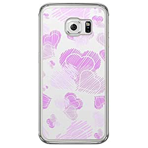Loud Universe Samsung Galaxy S6 Edge Love Valentine Printing Files Valentine 123 Printed Transparent Edge Case - Purple/White