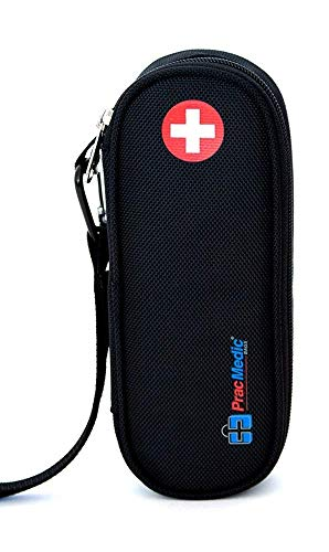 - PracMedic Bags EpiPen Carrying Case, Compact - Holds 2 EpiPens or Auvi-Q and Asthma Inhaler - Immediate Access to Allergy Medications During Emergency Situations for Kids and Adults (Black)