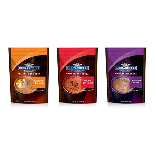 Ghirardelli Gourmet Hot Cocoa Mix Variety Pack Mocha/Double Chocolate/Caramel (Hot Mocha Chocolate)
