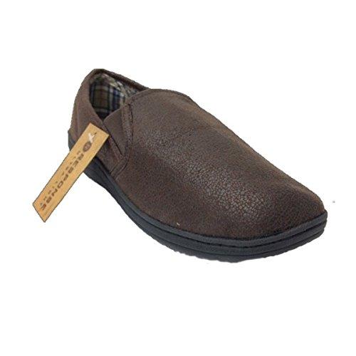 Response Sintético Por Para Hombre Zapatillas Material De Marrón Estar Casa Sw7US