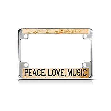 Amazon com: Peace, Love, Music Music Bike Chrome License