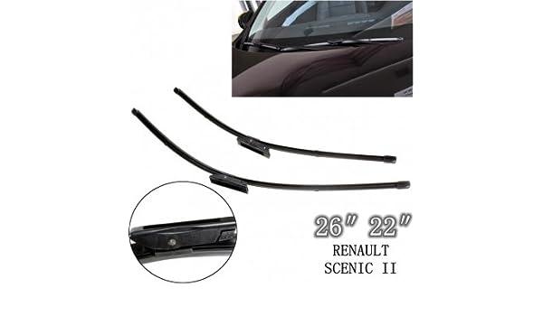 Bheema frontal soporte de parabrisas limpiaparabrisas para Renault Scenic II 05 - 09: Amazon.es: Coche y moto