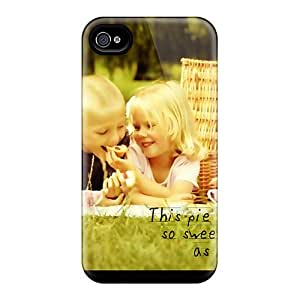 Iphone 4/4s Cute Love Story Print High Quality Tpu Gel Frame Case Cover