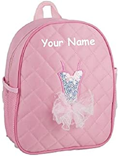ddfdf21743ec Amazon.com: Personalized Quilted Black and Baby Pink Dance Duffel ...