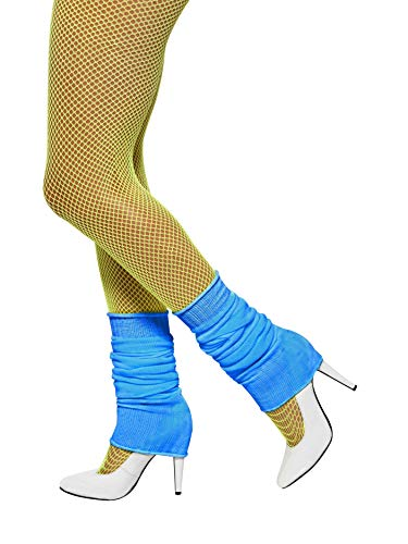 Smiffys Unisex Adult Leg warmers,Neon Blue,One Size ()