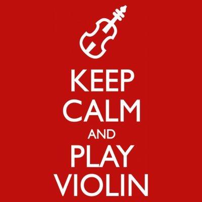 Sudadera con capucha de mujer Keep Calm And Play Violin by Shirtcity Rojo