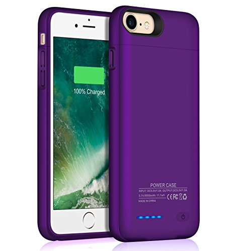 JUBOTY Compatible iPhone 7 8 Battery Case 3000mAh Slim Portable Charger Juice Power Bank Battery Backup Charging Case for iPhone 7 8 by JUBOTY