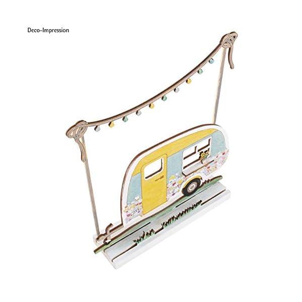 41ch bWeI2L Rayher 46423505 Holzmotiv Wohnwagen, FSC zertifiziert, natur, 20 x 11,5 x 0,4 cm, 6teilig, zum basteln und bemalen