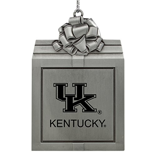 University of Kentucky -Pewter Christmas Holiday Present Ornament-Silver