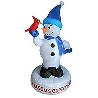 Muñeco de nieve inflable navideño de 4 pies con decoración de patio de aves