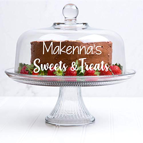 Personalized Cake Stand - Cake Dome - Personalized Cake Stand with Dome - Gift for Baker - Bridal Shower Gift - Wedding Gift - Custom Cake Stand - Dessert Stand - Personalized Glass Cake Stand