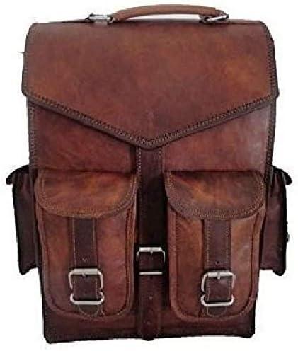 ALASKA EXPORTS- 15 Vintage Leder Herren Umhängetasche Schulter-Rucksack für Notebook Rucksack Sling für 2 in 1 Ziel