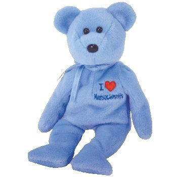 Amazon.com  TY Beanie Baby - MASSACHUSETTS the Bear (I Love ... ede1c580f82