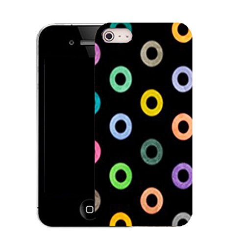 Mobile Case Mate IPhone 4 clip on Silicone Coque couverture case cover Pare-chocs + STYLET - multi ring pattern (SILICON)