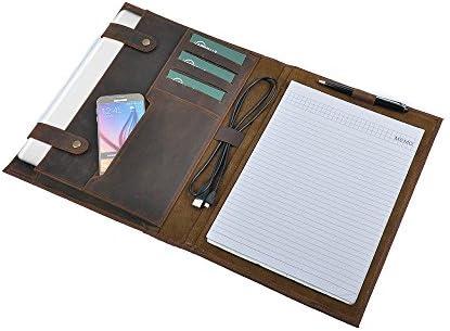 Personalize Padfolio Leather Portfolio Notepad