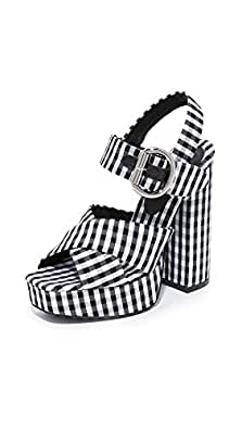 Jeffrey Campbell Women's Elvina Gingham Platforms, Black & White Gingham, 10 B(M) US