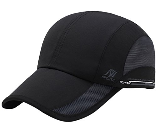 Panegy Outdoor Professional Unisex Basketball Cap Quick-Dry Sun UV protection Hat Black (Baseball Cap Black Basketball)