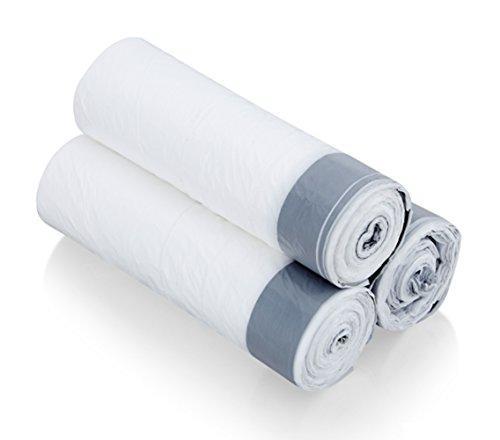 Besli 1.2 Gallons DrawString Strong Trash Bag Garbage Bag (90 Bags, White)