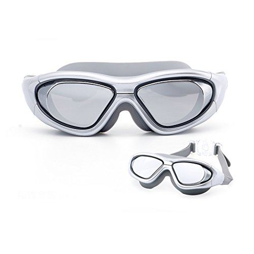 Gafas De Unisex Antivaho De Plata Y De Buceo Gafas Natación Impermeable Marco HD Gafas QY Adulto Grande Natación La Fpdggfwq