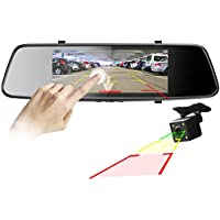 Pruveeo D700 7 Touch Screen Car Dash Cam Front and Rear Dual Channel, FHD 1080P