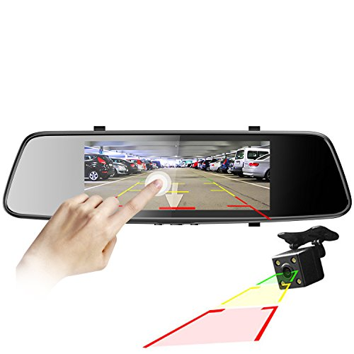 Pruveeo D700 7' Touch Screen Car Dash Cam Front and Rear Dual Channel, FHD 1080P