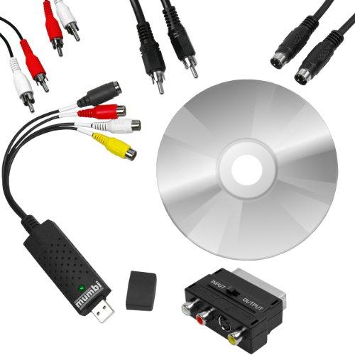 mumbi Video Grabber USB 2.0 inklusive Software und Anschlusskabel Set