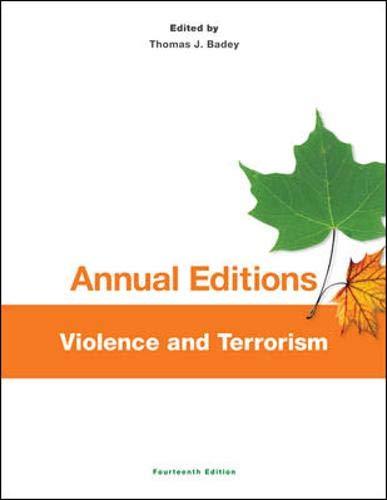 Annual Editions: Violence and Terrorism, 14/e