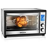 Baulia TO809 Digital Countertop Toaster Oven, 12 Inch Pizza 33 Liter Compact Convection Oven | Stainless Steel Even Heat Technology | 9 Pre-programmed One-Touch Functions, 6-Slice, 1600W