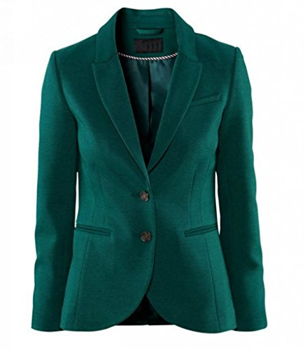 [WIIPU Womens green elastic sheath blazer with split in back (J230) Large] (Daria Costume)