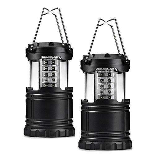 AOCKS 4 Pack Portable LED Camping Lantern, Portable Flashlights Super Bright, Battery Powered, Collapsible Lightweight Camping Lightsfor Camping, Emergencies, Great Gift Set