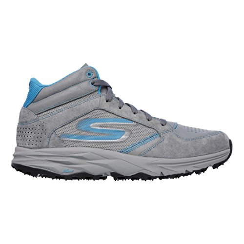 Skechers Go Trail Escape Women Round Toe Suede Hiking Shoe (8.5, Charcoal/Turquoise)