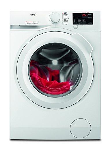 AEG L6FB54680 Waschmaschine / 8 kg / Waschvollautomat mit Mengenautomatik, Nachlegefunktion, Kindersicherung…
