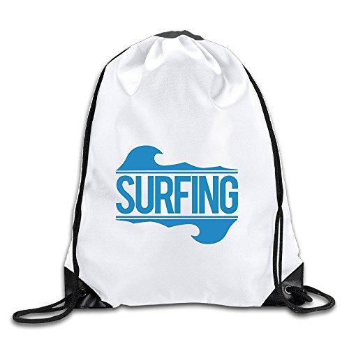 - Hawaiian Surfing Logo Drawstring Backpack Bag Gym Sack