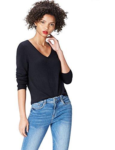 V Femme Black Col Pull FIND Noir Pqw4U4a