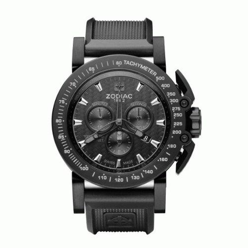 Zodiac ZO8516 - Reloj para hombres, correa de poliuretano color negro: Amazon.es: Relojes