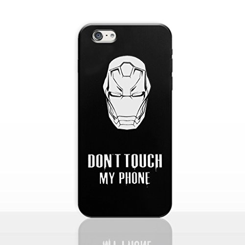 iPhone 6/6s Dont Touch My Phone Estuche de Silicona / Cubierta de Gel para Apple iPhone 6S 6 (4.7) / Protector de Pantalla y Paño / iCHOOSE / Gengar Ironman