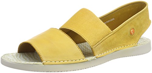 Softinos Tai383sof Washed, Sandali con Chiusura sul Retro Donna Gelb (Yellow)