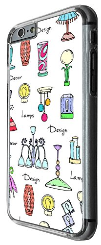 1368 - Cool Fun Trendy cute kwaii retro furniture lamps sketch illustrations Design iphone 5 5S Coque Fashion Trend Case Coque Protection Cover plastique et métal - Clear