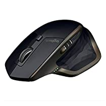 Logitech MX Master AMZ Mouse Wireless Bluetooth per Windows e Mac, Unifying e Bluetooth per Mac e Windows, Ricaricabile, Scroller Azionabile, Nero