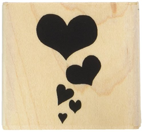INCA Rubber Stamp CASCADING HEARTS Great for Wedding Invitations